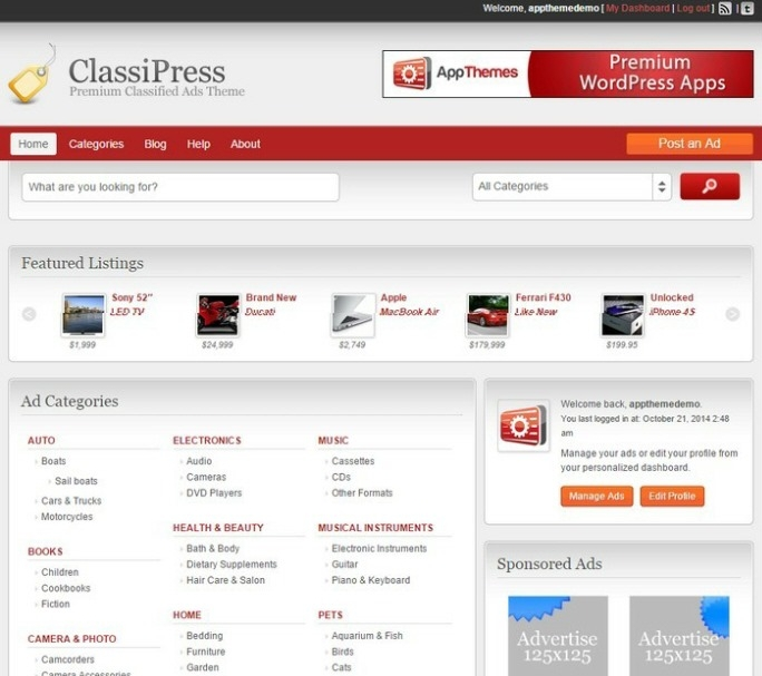 Review of 5 Best Classified WordPress Themes 2015