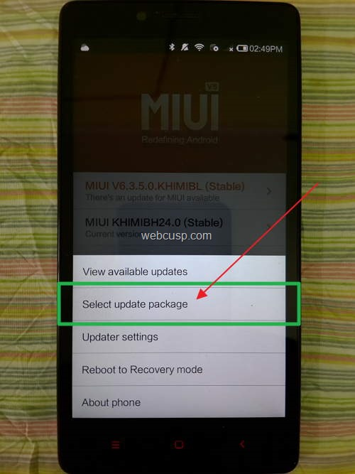 redmi-note-root-select-update-package