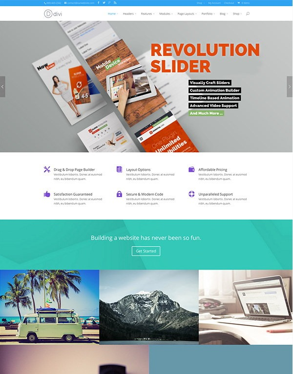 Divi now supports Revolution Slider