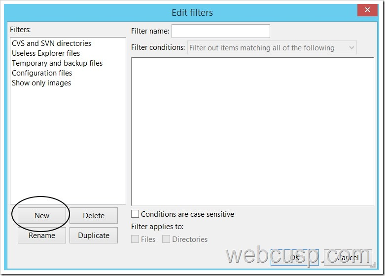 FileZilla File Filter2