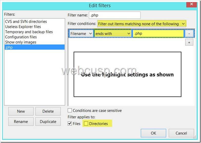 FileZilla File Filter4