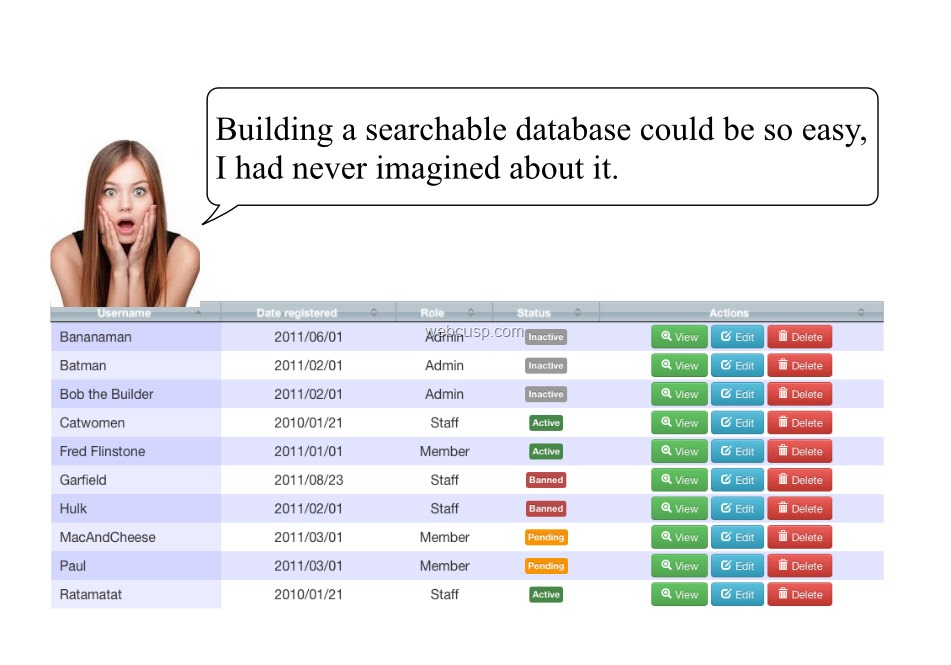 Creating a searchable database in WordPress
