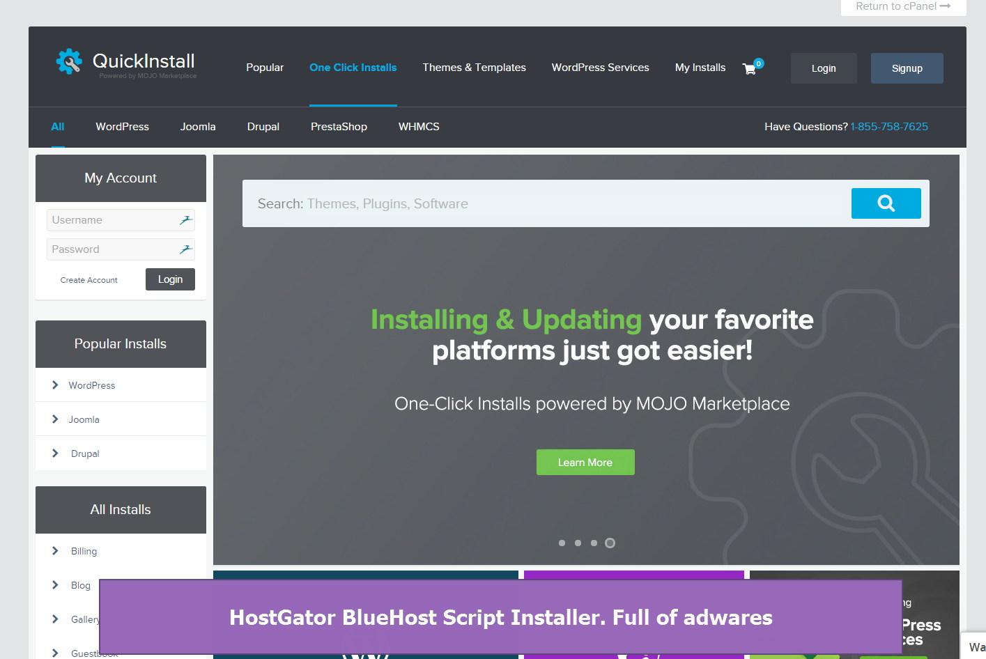 HostGator script installer