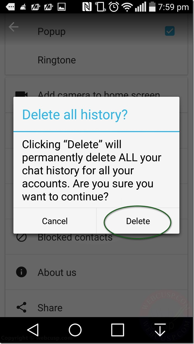 IMO Delete Chat History5