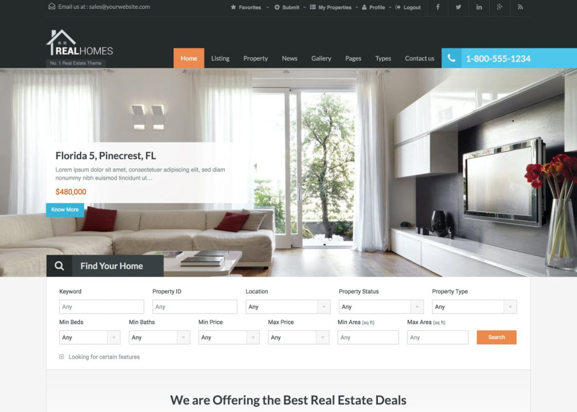 20 Best Wordpress Themes For Real Estate Websites 2017