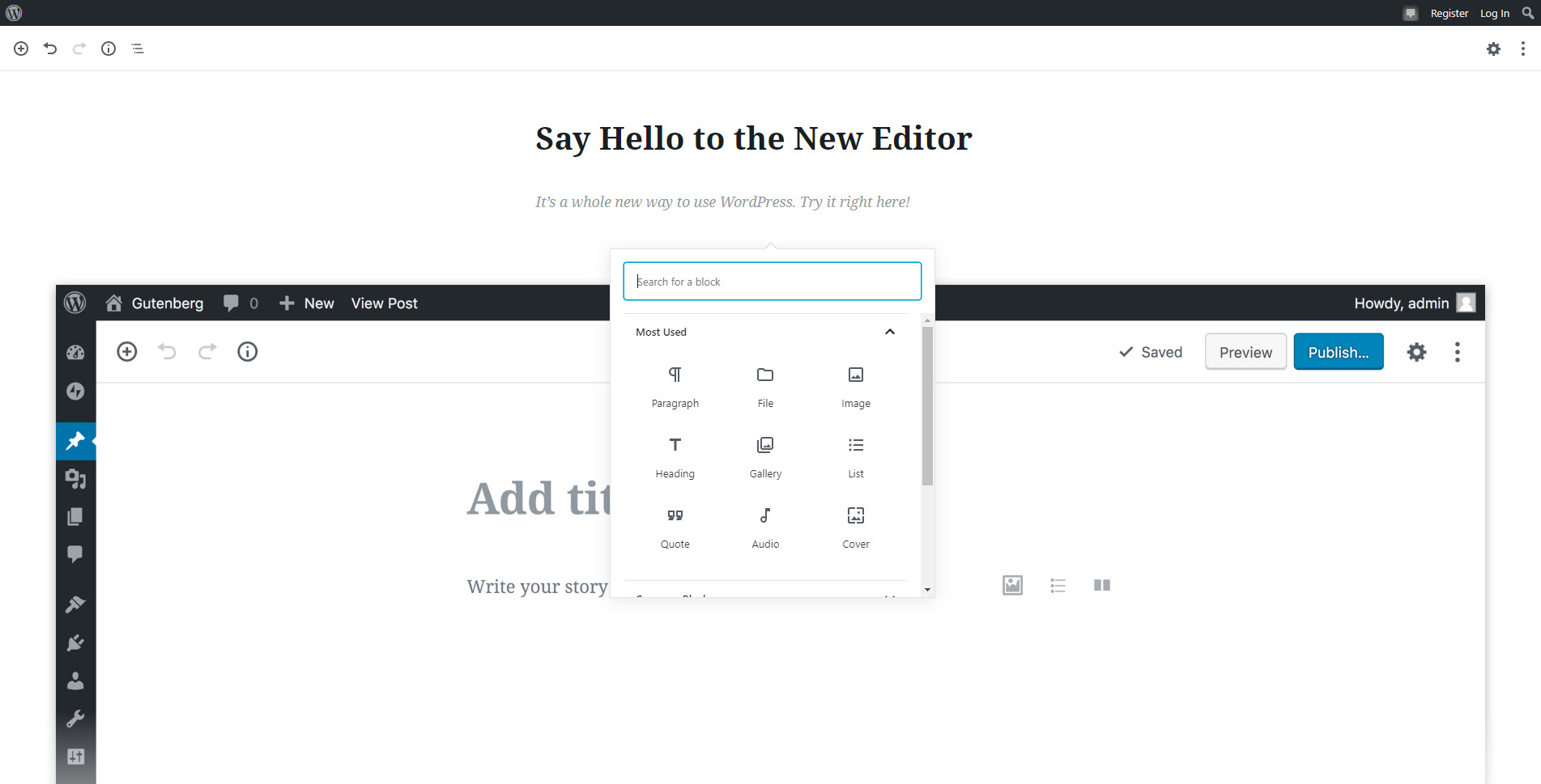 Gutenberg New WordPress Text/HTML Editor – All you Need to Know