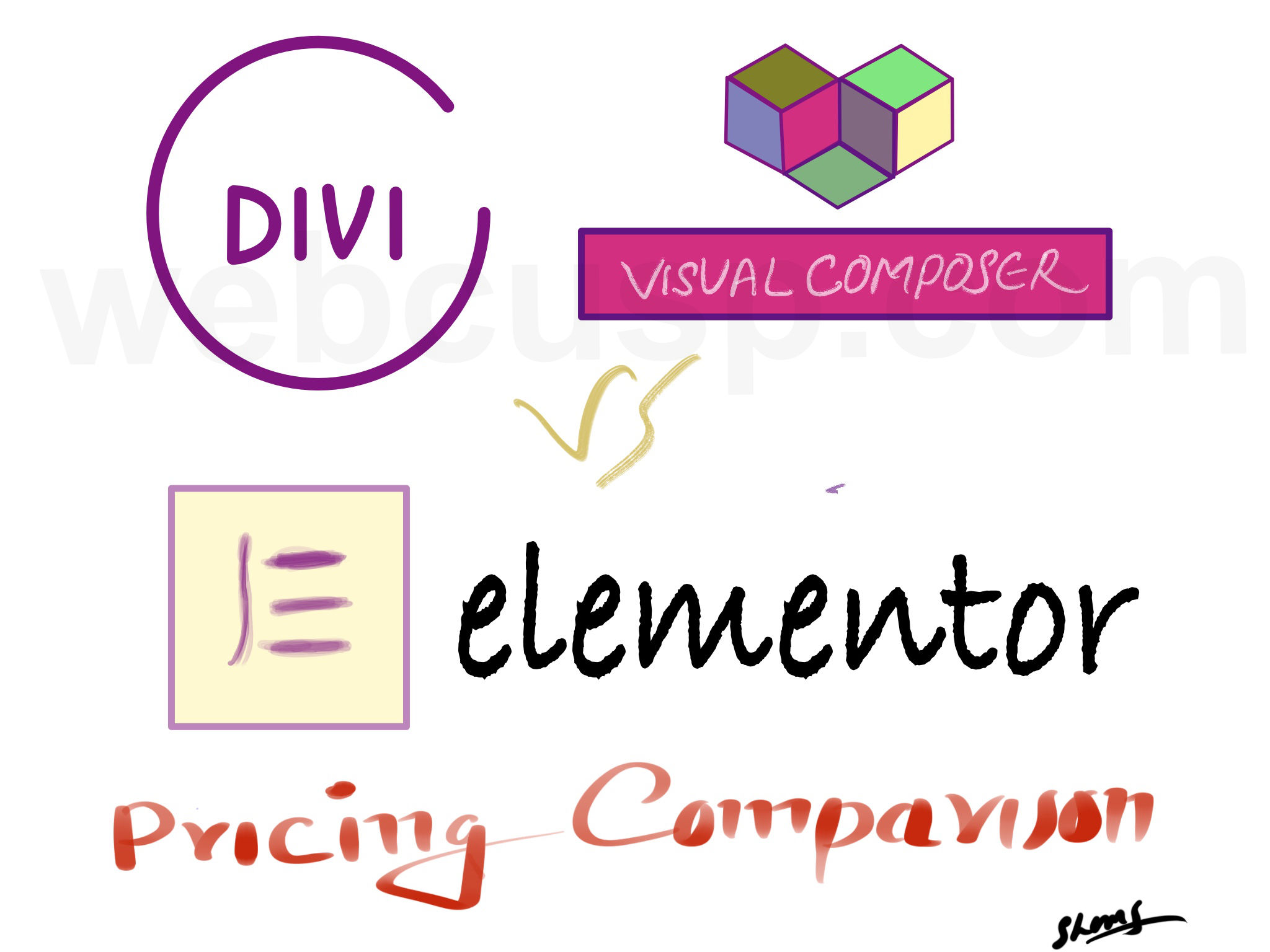 Shocking Price Comparison – Divi Builder vs Elementor vs Visual Composer