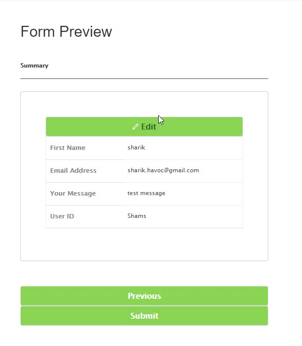 How to preview a WordPress form entry before submission